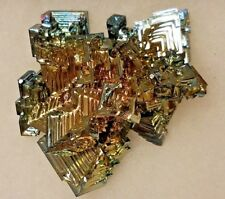 A BIG! Gold Green Copper Blue and Gold AAA BISMUTH Crystal From Germany! 191gr