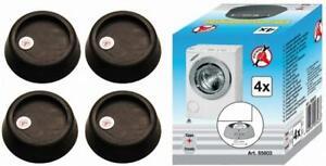 4x Vibrationsdämpfer Unterlage für Waschmaschinen & Trockner, Gummi Füße Dämpfer