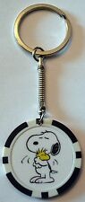 Snoopy & Woodstock Charlie Brown Poker Chip Keychain Key Chain