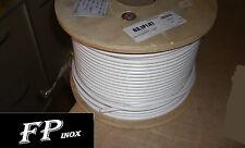 Cable inox 316 Gainé PVC Blanc 4 x 8 mm VENDU AU Mètre