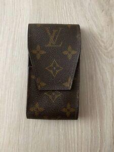 Louis Vuitton Etui Monogram Vintage Brown Leather Cigarette Case Box Holder 1