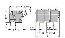 10 pcs. 4polige WAGO Leiterplattenklemme 2,5mm²  RM7,5/7,62mm Betätigungsdr. #WP