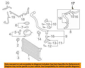 AUDI OEM 15-18 A3 Quattro 2.0L-L4 Cooling-Overflow Hose Clamp N90686701