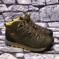 KEEN Bryce Mid WP Women's Brown Lace Up Waterproof Hiking Boots Size 8.5