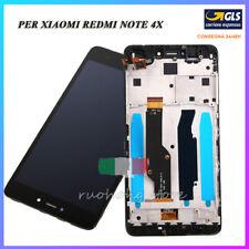 PER XIAOMI REDMI NOTE 4X VETRO TOUCH SCHERMO DISPLAY LCD + FRAME NERO COMPLET