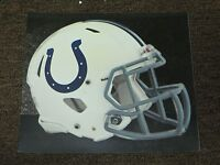 """INDIANAPOLIS COLTS HELMET NFL Fathead Wall Graphics 11"""" x 9""""  (Poster/Sticker)"""