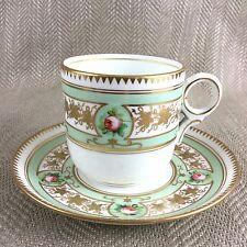 Antiguo Taza De Té Copa y platillo demitasse Duo De Porcelana China Pintado A Mano Rose De Colección