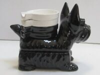 Scottie Dog table box with 4 trays dishs NOS vintage old Japanese ceramic