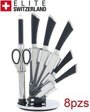 Juego de cuchillos set de cocina 8 pzs ELITE SWITZERLAND 2 AÑOS DE GARANTÍA