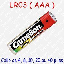 Pile Alcaline Plus AAA LR03 LR3 R3 MN2400 AM4 E92 UM4 1,5V : x 1 4 8 10 20 40
