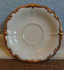 1x Rosenthal platillo Pompadour blanco con oro hoja relief borde azul engarzado!