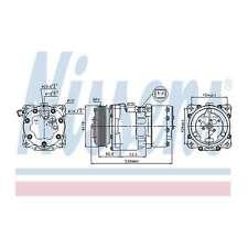 Fits Peugeot 206 2.0 HDi Genuine OE Quality Nissens A/C Air Con Compressor