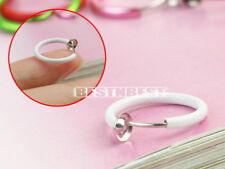 8 Colors Clip On Fake Piercing Ring Ear Nose Lip Belly Navel Bar Goth Rock Gifts