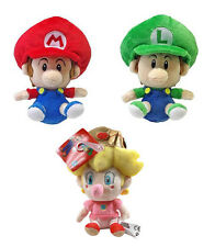 Set of 3 Little Buddy USA Super Mario: Baby Mario, Baby Luigi & Baby Peach Plush