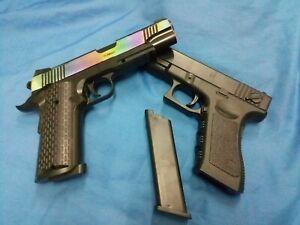 2X toy gun swat pistol filming costume prop cosplay kimber m1911 speed lapd