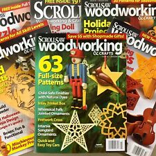 Lot of 6 Scroll Saw Woodworking & Crafts magazines Halloween Christmas & more
