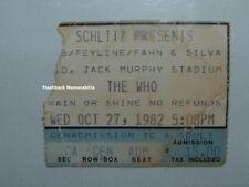 The Who Concert Ticket Stub 1982 San Diego Jack Murphy Very Rare Roger Daltrey