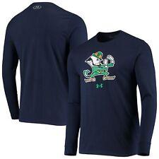 Notre Dame Fighting Irish Under Armour School Logo Mascot Long Sleeve T-Shirt -