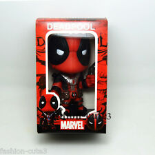 "New in Box Deadpool X Men Wade Wilson with Bobble Head Action Figure Toy 5"" Gift"