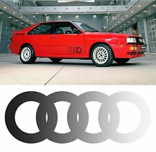 x2 Audi Ur Quattro Door Ring Stickers Laminated with Dotted Fade Effect