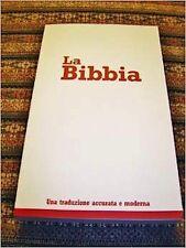 Italian Language Bible, La Sacra Bibbia, NRV, Paperback Red/White economy