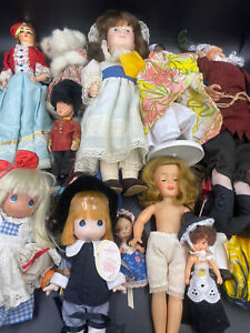 """Vintage Dolls  Mixed Lot Collectibles 4""""-15"""" Effanbee Ideal Shirley Temple Elf !"""