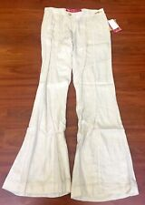 Apple Bottoms By Nelly Womens Linen Pants Glam Rock Flare Size 7/8 NWT