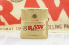 """AUTHENTIC Raw Rolling Paper Blunt Pocket Reusable Odor-Free Ashtray 3.5"""" x 3"""""""