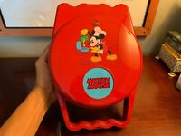 Villaware Mickey Mouse Waffle Maker Very RARE Red Color Vintage Excellent Shape
