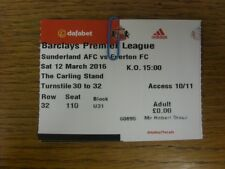 12/03/2016 Ticket: Sunderland v Everton  . Faults with this item should have alr