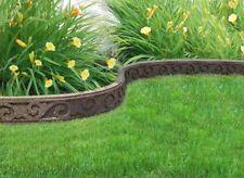 Flexi Curve 4 ft. Earth Scroll Rubber Garden Edging Border Gardening Feature