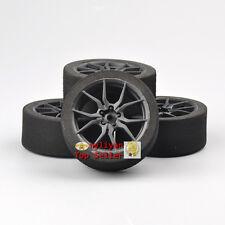 New 4X Unique Foam Tires&12mm Hex Wheel Rims For 1/10 on-road Racing car 23003