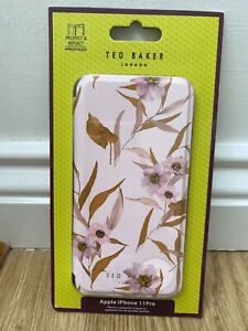 Ted Baker mirror Folio Case for Apple iPhone 11 pro pink floral cover New