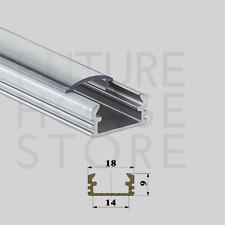 Aluminium anodisé profil de surface Channel extrusion P2 ARGENT 1 m Couverture Fin Caps