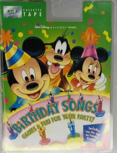 WALT DISNEY RECORDS PRESENTS BIRTHDAY SONGS: GAMES & FUN FOR YOUR PARTY Cassette