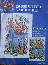 Nuevo Kit Punto De Cruz Kit Completo de escena de jardín muy Sellado Aguja Craft