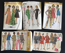 Lot of 5 Vintage Sewing Patterns