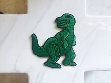 Boy Green Dinosaur Animal Wild Jurassic Embroidered Iron On Patches Patch
