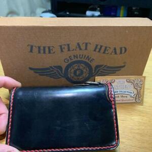 FLAT HEAD 2ND Bespoke Cordovan Wallet Leather Pink Biker Men's From Japan USED