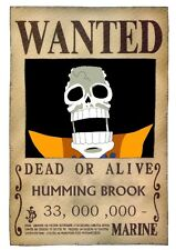 POSTER ONE PIECE RUFY TAGLIA WANTED GRANDE BROOK #11