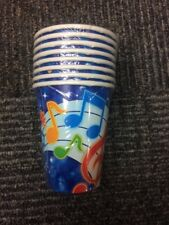 Music Themed Party Cups Pack Of 8 New