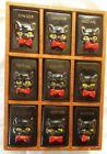 Vintage BLACK CAT SPICE RACK 9 Jars - Pottery SHAFFORD Japanese Redware 1950's