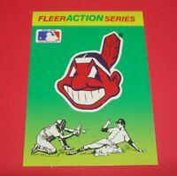 1990 Fleer Baseball Team Sticker Card Cleveland Indians Chief Wahoo Retro Logo