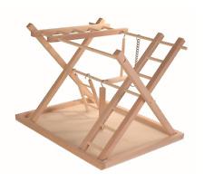 Wooden Playground Parrot Bird Play Activitie Table Fun Perch Swing Indoor New