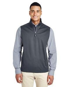 Core 365 Mens Techno Lite Three-Layer Knit Tech Shell Quarter-Zip Vest CE709