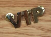 """Unbranded Gold Toned VIP 2"""" (inch) Collectible Very Important Pin **READ**"""