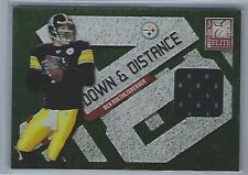 BEN ROETHLISBERGER 2010 PANINI ELITE STEELERS GAME USED JERSEY RELIC SP /299