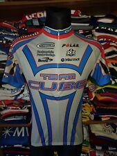 TEAM CUBE BIEMME Ciclismo in jersey Taglia 4 camiseta vintage trikot shirt (m873)