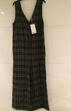Zara Checked Buttoned Jumpsuit Size S