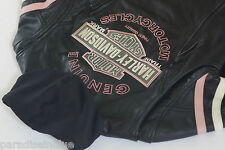 Harley Davidson Womens Pink Fall Miss Enthusiast Leather Jacket 3n1 97038-11VW L